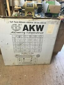 AKW tuff form wet room shower tray. 900 x 900mm new