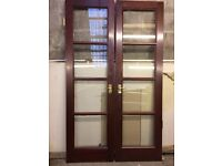 Double French Glass Paned Doors