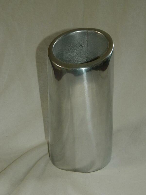 Nambe 541 Tilt Wine Chiller Champagne Cooler Utensil Holder Vase