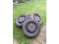 Mercedes vito steel wheels and michelin tyers