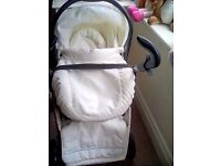 White leather prince edition travel system