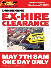 Ex-Hire Trailer Clearance 7th May Dandenong Greater Dandenong Preview