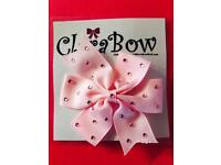 ClaraBow Baby Pink Bow with Diamanté Detailing