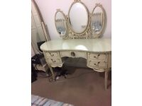 Harrods French Louis Style Bedroom Chest 5 Drawers Dressing Table Set