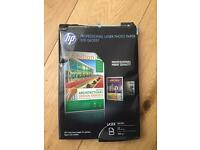 HP Professional laser photo paper, leaflets and flyers