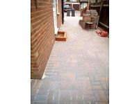 Paving drive way concret all garden