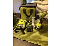 Ryobi LLCDI1802 Combi Drill x2 4ah Batteries