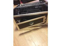Beand new behringer amp and mixer in flight case for sale all working