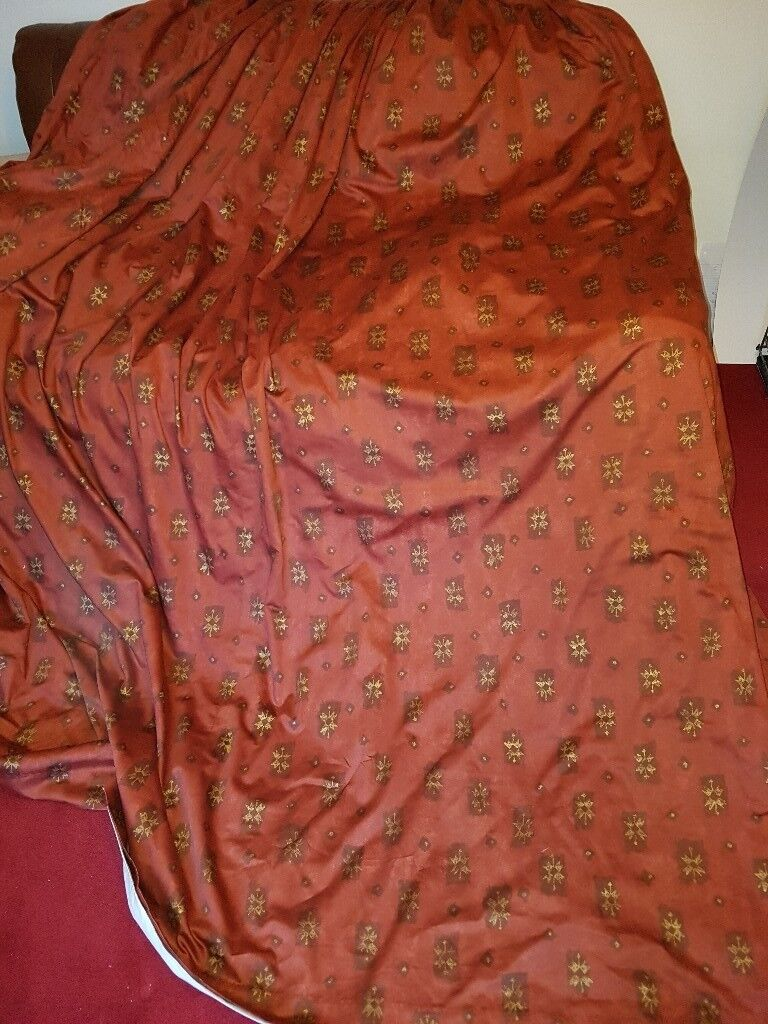 home shower curtains fabric red tibetan p rust gold and curtain target
