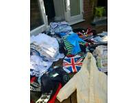 Huge pile of 0-3 month boy clothes