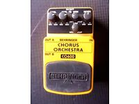 Behringer Guitar Pedal Effects Button CHORUS ORCHESTRA co600 EXCELLENT CONDITION