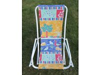 Children's Rocking Deck Chair for age appx 3-6 yrs - Good condition. Folds flat