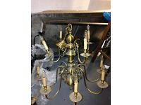 Ornate French Chandeliers - 12 and 6 arm
