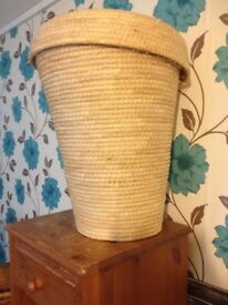 Lovely wicker bin handy for washing
