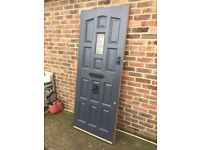 Solid, heavy external door 2030cm X 805cm X 44cm