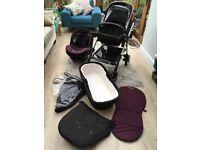 Silver Cross Wayfarer travel system / pram / pushchair, good condition.
