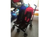 Double obaby pushchair