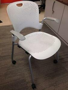 Herman Miller Caper Chair on casters - White