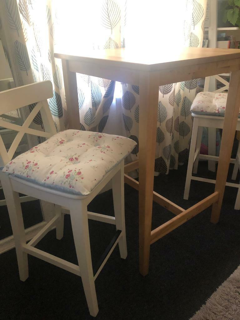 ikea breakfast table bar table with high chairs  can be