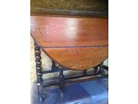 Barley twist - gate leg table...Drop leaf design.