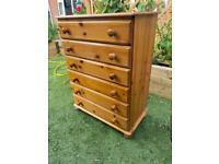 Pine chest of 6 drawers. Possible delivery