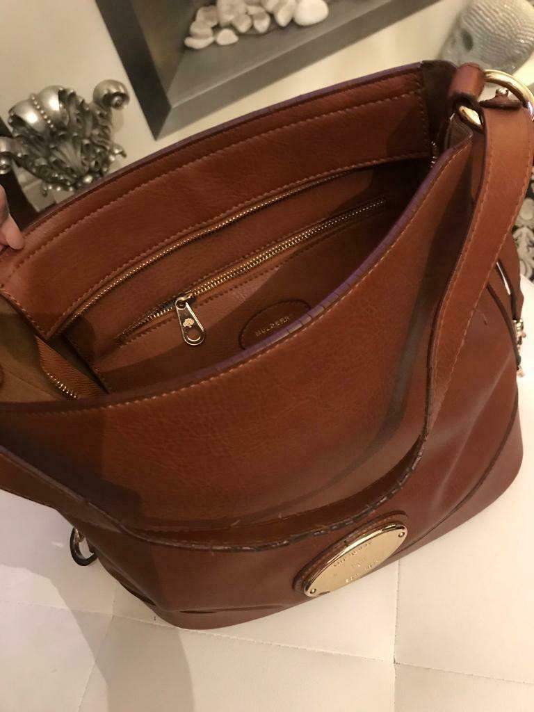 abbceded1c40 Mulberry tan leather bucket bag used gold mulberry bag