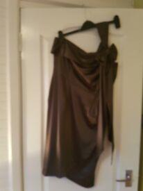 Charcoal grey ladies size 14 dress.
