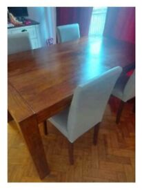 Real wood table and 4 chairs