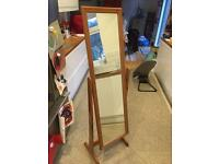 Free standing tall wooden dressing mirror