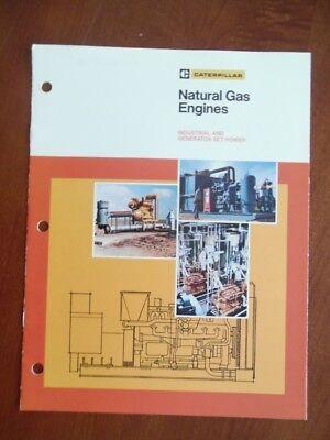 1981 Caterpillar Natural Gas Engine Industrial Generator Set Power Brochure Vg