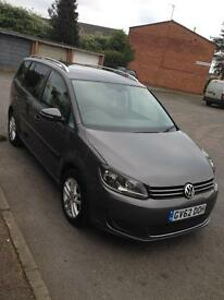 VW TOURAN 2013 reg 1.6 DIESEL TDI FAMILY 7 SEATER LOW MILES 28150 VERY GOOD CONDITION