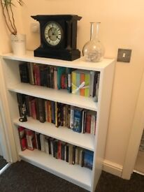 Small white ikea bookcase