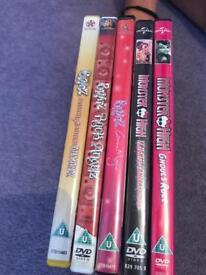Bratz and Monster High DVD's