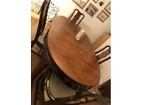 Vintage style dining table & 4 matching chairs
