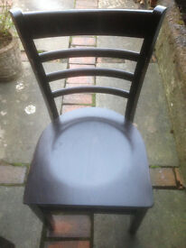 Robust Dark Wood Bistro/Cafe Dining Chair (7 Available)