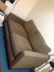 NEXT brown two seater sofa £40