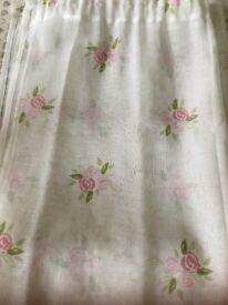Pair of voile curtains (Dunelm)