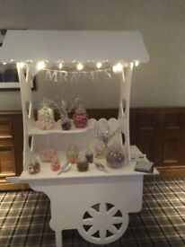 Candy cart hire £50 without sweets £75 with sweets lights banner sweet bags ect all Ocassions