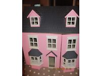 Pink Dolls House and furniture