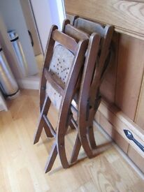 Vintage infant school chairs x 3