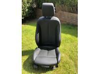 BMW F31 black leather drivers seat