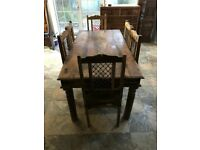 Dining table and 6 chairs (Solid wood) - £300