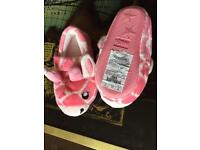 Girls slippers size 5