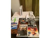 Nintendo Wii with games and board
