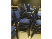 X50 Stackable Chairs / Conference Chairs. Job lot. Seats . Padded . Fabric.