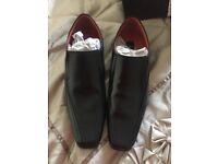 Jeff Banks Black Slip on Shoes