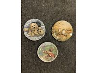 collectable animal plates X 3