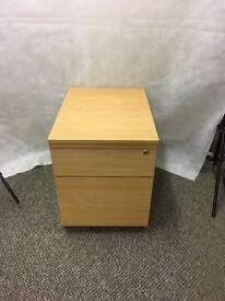 2 Drawer Office Under Desk Office Unit (no key) - STA21