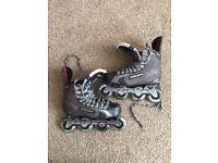 Bauer XR4 inline skates size 6.5 used for roller hockey still in good condition