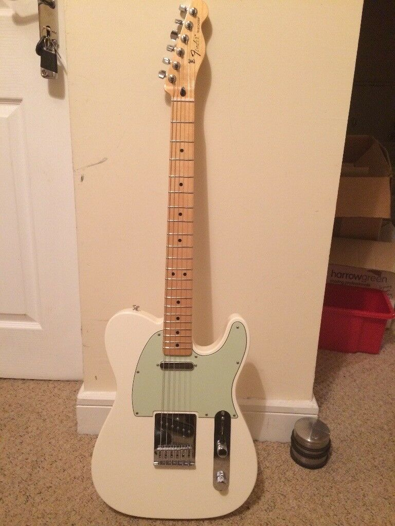 Fender White Telecaster MIM mint green pickgaurd